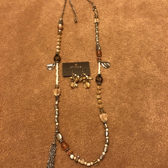 Chico's Jewelry - Chico's Anabel Earrings and Necklace Set NWT/NWOT